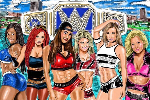 WWE Divas Smackdown Championship WWe Backlash