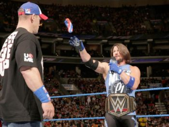 john cena vs aj styles royal rumble 2017